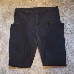 AE Black High Rise Super Skinny Jeans